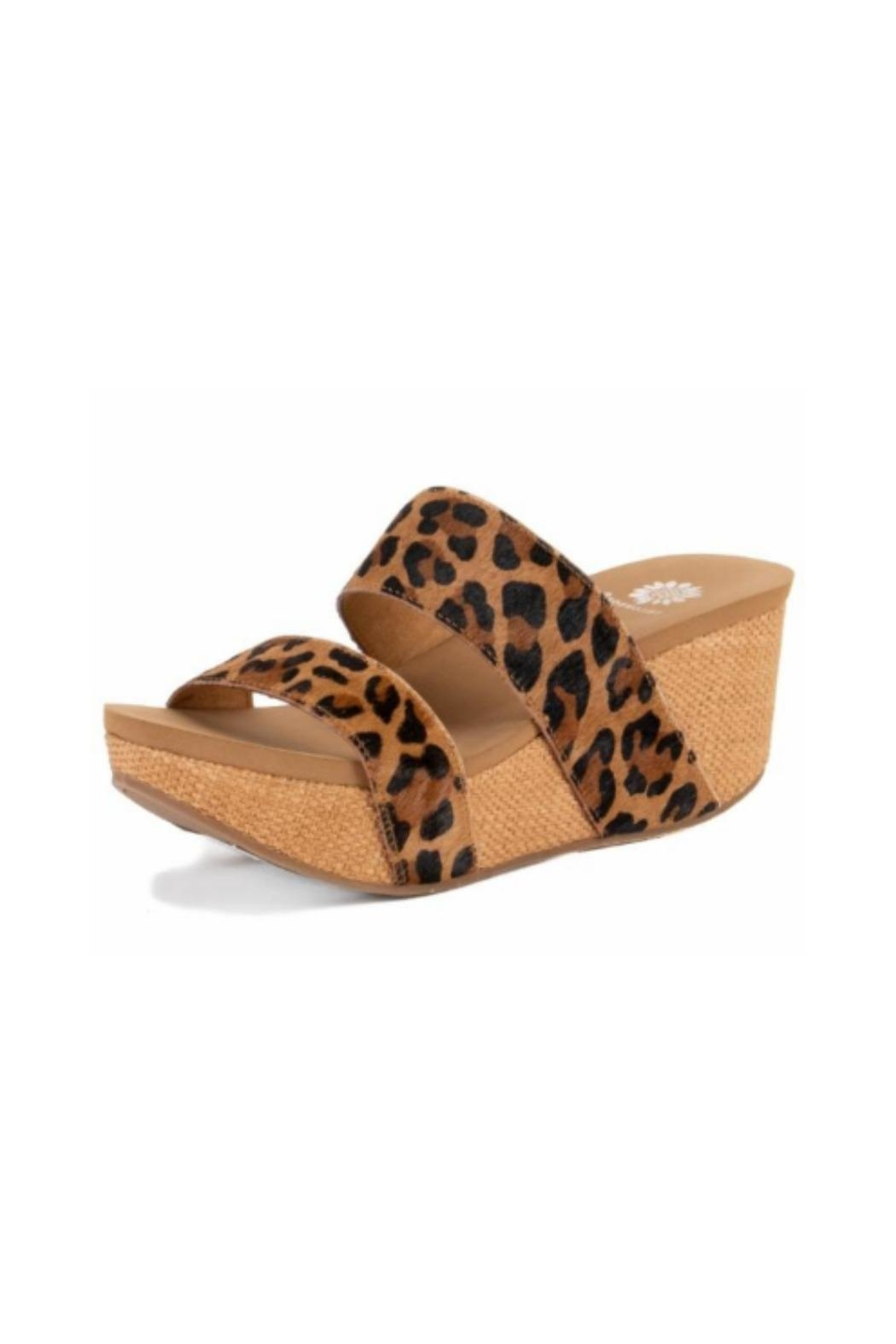 Yellow Box Leopard Wedge from Texas by