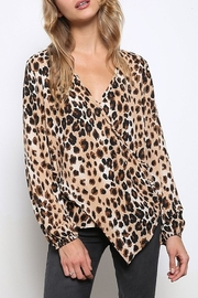 Mittoshop LEOPARD WOVEN TOP - Front cropped