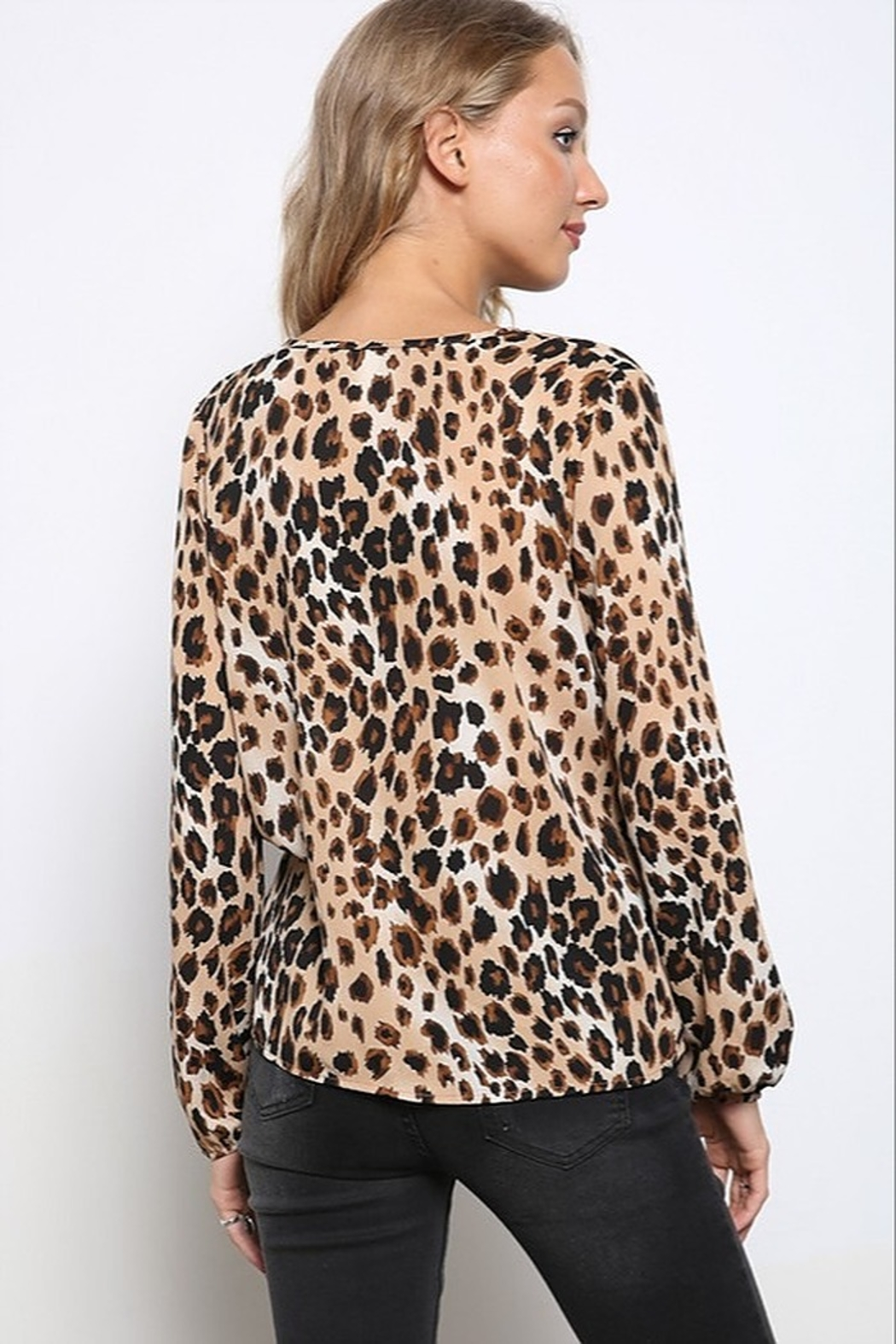 Mittoshop LEOPARD WOVEN TOP - Front Full Image