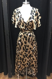 Tea & Cup Leopard Wrap Dress - Product Mini Image