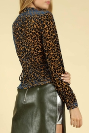 TIMELESS Leopard Wrap Top - Front full body