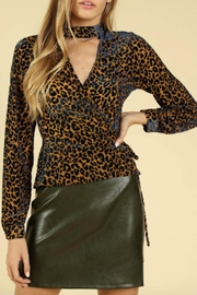 TIMELESS Leopard Wrap Top - Product Mini Image