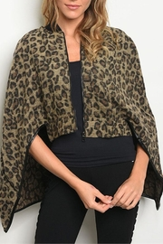 Dance & Marvel Leopard Zip Poncho - Product Mini Image
