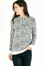 Six Fifty Leopard Zipper Back Sweatshirt - Product Mini Image