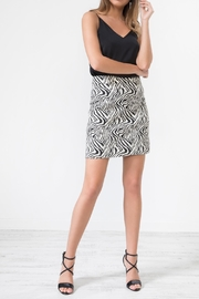 Urban Touch Leopardprint Midi Skirt - Front full body