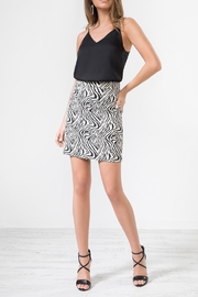 Urban Touch Leopardprint Midi Skirt - Front cropped