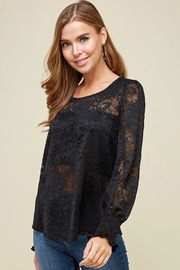 Les Amis Black Lace Blouse - Product Mini Image