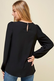 Les Amis Black Long Sleeve Blouse - Side cropped