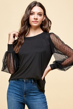 Les Amis Black Obsessed Blouse - Product List Image