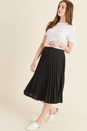 Les Amis Black Pleated Midi Skirt - Product Mini Image