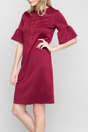Les Amis Burgundy Ruffle Dress - Other
