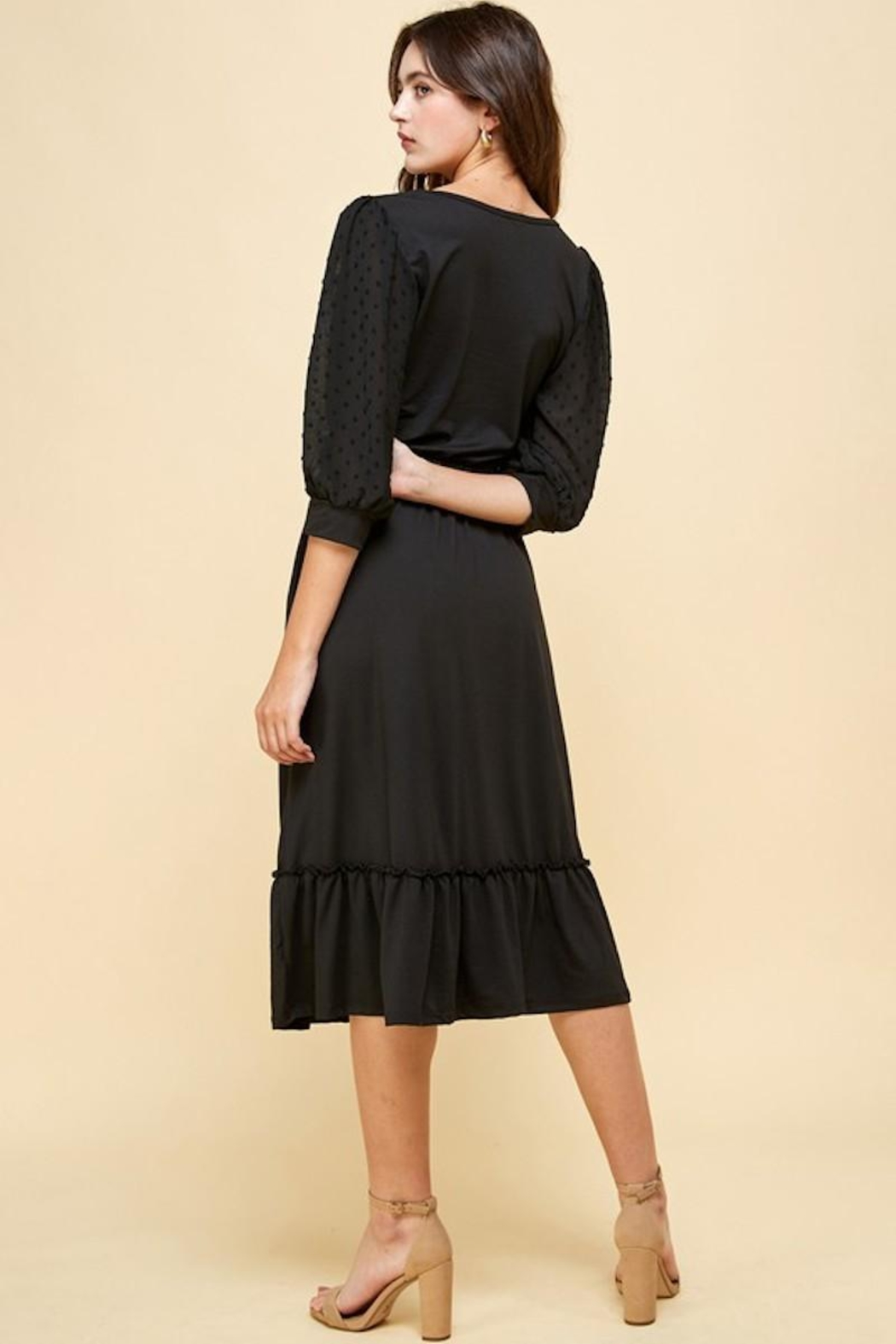 Les Amis Darling Black Dress - Side Cropped Image