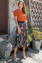 Les Amis Emily's Eyelet Top In Pumpkin - Other