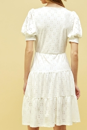 Les Amis Emma Eyelet Tiered Dress - Front full body
