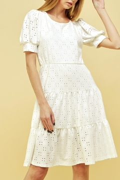 Les Amis Emma Eyelet Tiered Dress - Product List Image