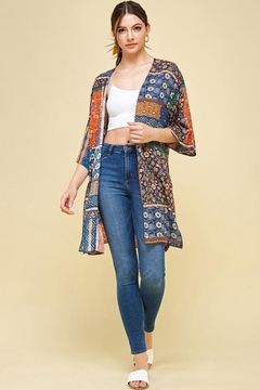 Les Amis Fall Boho Kimono - Alternate List Image