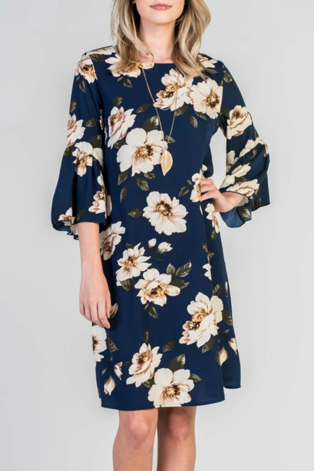 Les Amis Floral Shift Dress - Front Full Image