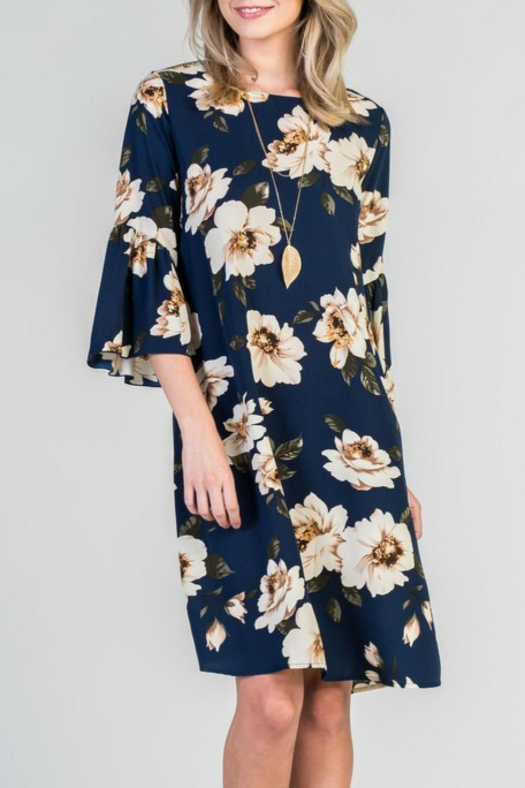 Les Amis Floral Shift Dress - Front Cropped Image