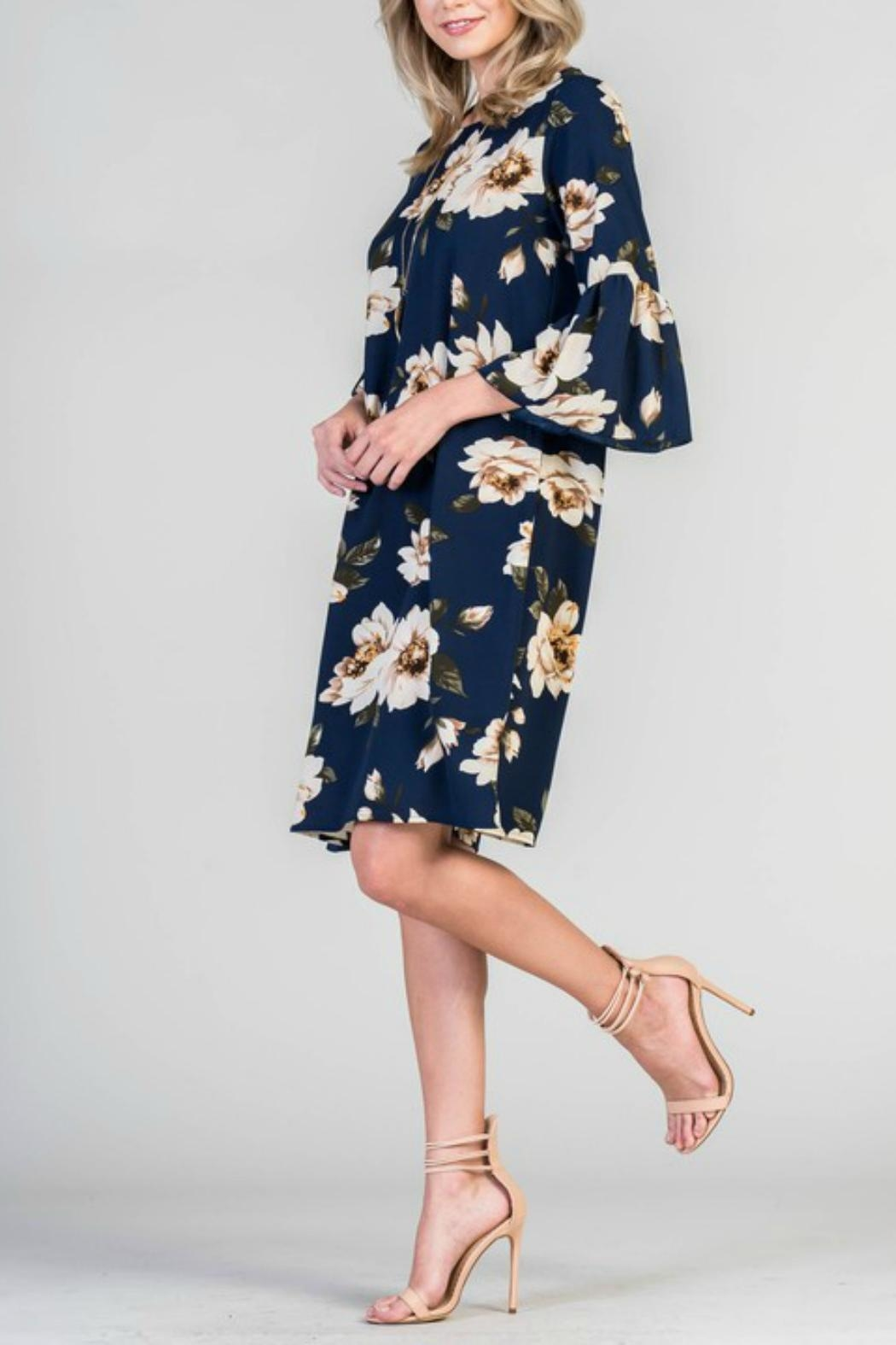 Les Amis Floral Shift Dress - Side Cropped Image