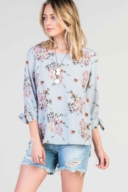 Les Amis Floral Stripes Top - Product Mini Image