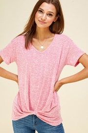 Les Amis Heather's Pink Comfy Top - Product Mini Image