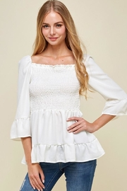 Les Amis I Adore You Babydoll In White - Product Mini Image