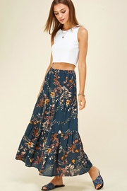 Les Amis Layered Floral Maxi Skirt - Front cropped