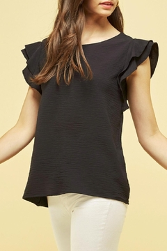 Les Amis Maya Ruffle Textured Blouse - Product List Image