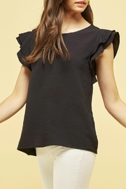 Les Amis Maya Ruffle Textured Blouse - Front cropped
