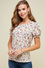 Les Amis Natural Floral Blouse - Front full body