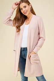 Les Amis Soft Blush Pocket Cardigan - Product Mini Image