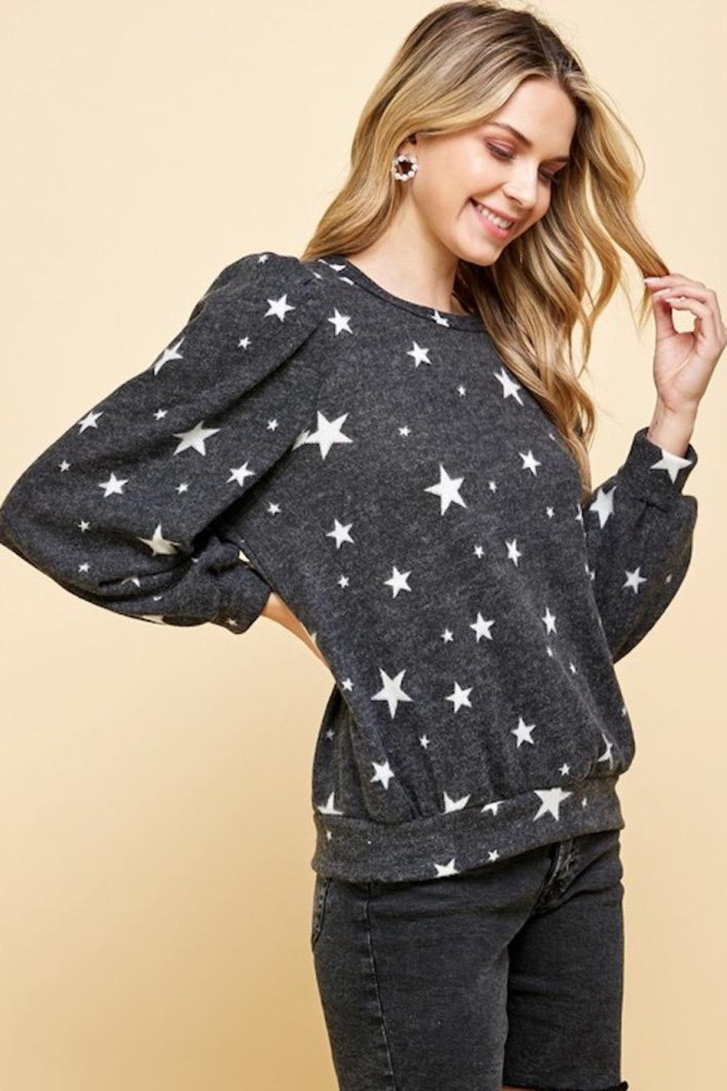 Les Amis Star Of The Softest Sweater - Front Full Image