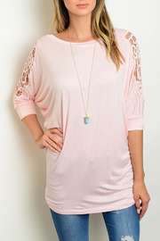 Leshop Blush Crotchet Tee - Product Mini Image