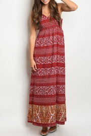 Leshop Burgundy Paisley Maxi - Product Mini Image
