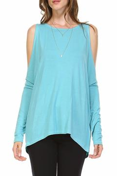 Shoptiques Product: Cold Shoulder Bamboo Top
