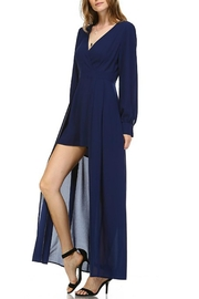 Leshop Navy Skirted Romper - Front cropped