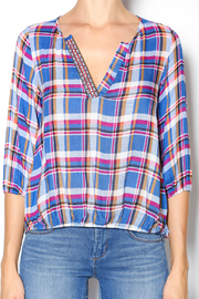 Leshop Plaid Trim Top - Other