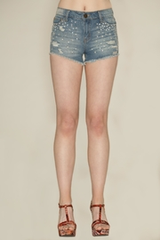 Leshop Rhinestone Cutoff Shorts - Product Mini Image