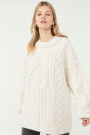 Free People  Leslie Cable Tunic - Product Mini Image