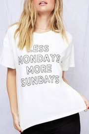 Peach Love California Less Mondays Tee - Front cropped