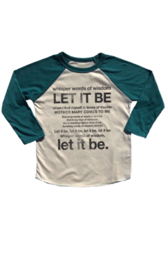 Rowdy Sprout Let It Be Raglan - Alternate List Image