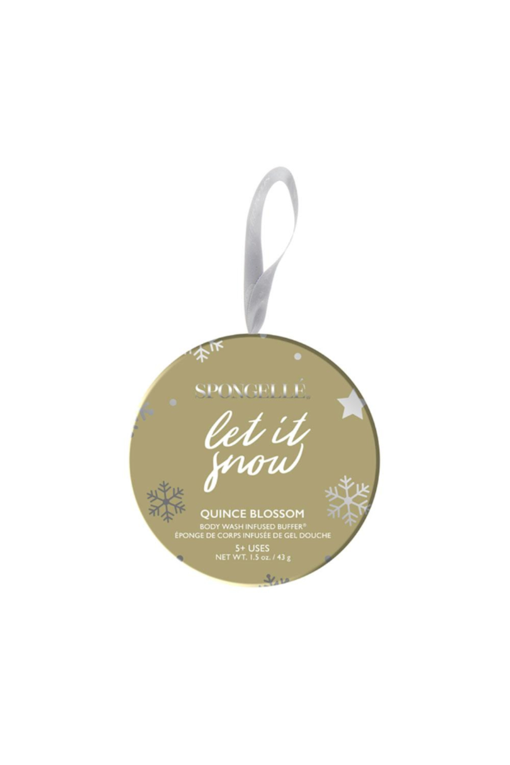Spongelle LET IT SNOW HOLIDAY ORNAMENT (BODY BUTTER) - Main Image