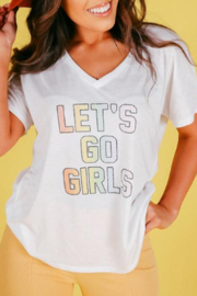 Friday + Saturday Let's Go Girls Tee - Product Mini Image
