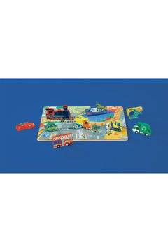 Crocodile Creek Let's Play: Things That Go 16 Piece Wood Puzzle - Alternate List Image