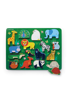 Crocodile Creek Let's Play: Zoo 16 Piece Wood Puzzle - Product List Image