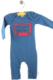 Hootkid Let's Sketch Romper - Front cropped