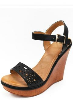 Shoptiques Product: Black Wedge Sandals