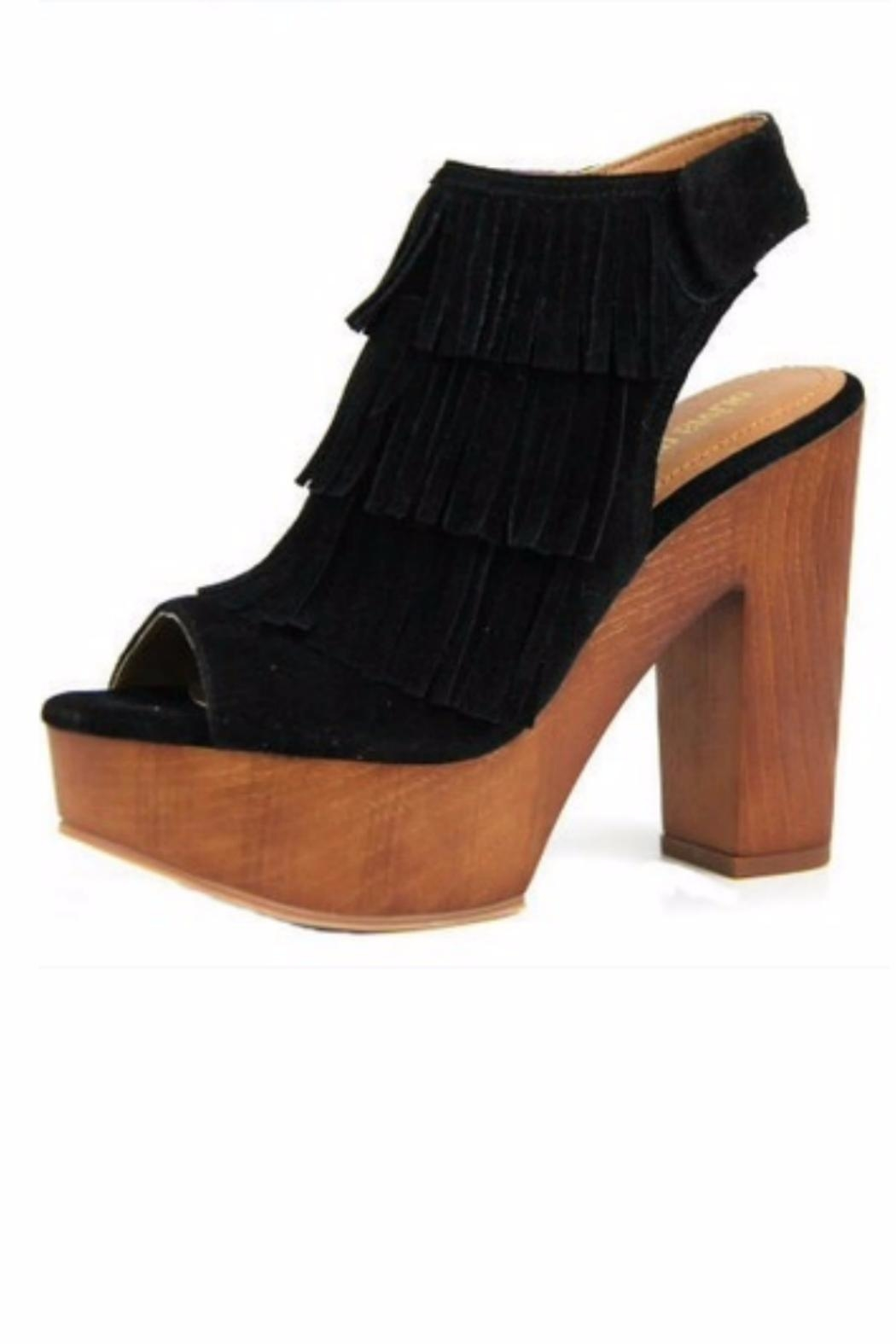 1b0b943fae18 Let s See Style Fringe Peep-Toe Bootie from North Carolina by Lucky ...