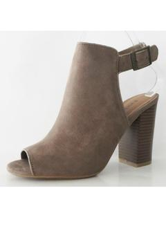Shoptiques Product: Taupe Suede Booties