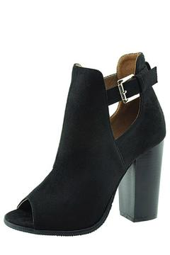 Shoptiques Product: Suede Peep-Toe Booties